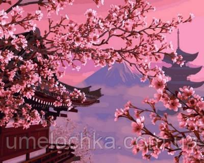 Картина для рисования Турбо Японский пейзаж (VP595) 40 х 50 см
