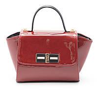 Стильная лаковая женская сумка красного цвета B.Elit art. 06-10