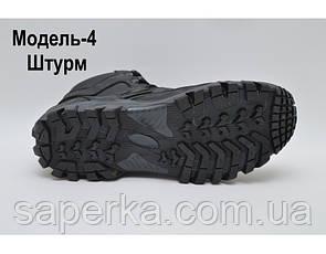 Тактические ботинки с увеличенной берцой на мембране. Модель 4 черные, фото 3