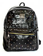 Рюкзак городской эко-кожа шипы, кожаный рюкзак, рюкзак кожзам, рюкзак женский, рюкзаки оптом, дропшиппинг