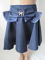 Детская пышная юбка с большим бантом.