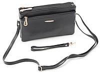 Компактная женская черная сумка барсетка FUERDANNI art. 601, фото 1