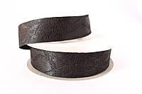 Лента декоративная атлас с кружевом 2.5 см, 20 ярд, черного цвета оптом (рулоном)