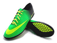 Футбольные сороконожки Nike Mercurial Victory TF Green/Yellow/Black, фото 1