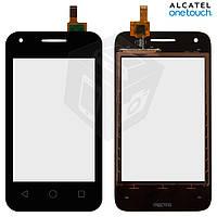 Touchscreen (сенсорный экран) для Alcatel One Touch 4009D Dual Sim, оригинал, черный