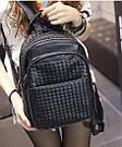 Кожаный женский плетеный рюкзак., фото 2