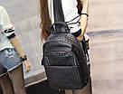 Кожаный женский плетеный рюкзак., фото 3