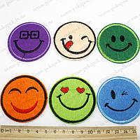 "Термоаппликация ""Smile Big"" (d=5,5см). Цена за 6шт"