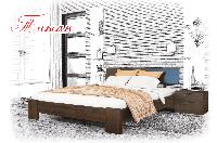Ліжко дерев'яне Титан, фото 1