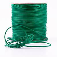 Шнур вощеный темно-зеленый  (1мм) - 3 метра
