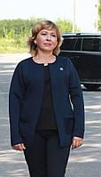 Женский кардиган пиджак из неопрена мелкий кубик