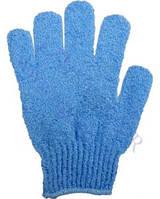 Массажная рукавичка отшелушивающая - синяя