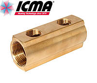 Простой коллектор 3/4*1/2  2 выхода ICMA Арт.1102