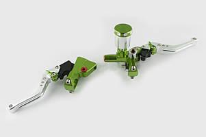 Рычаги руля (диск/барабан) RIDE IT (зеленые)