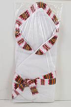 Конверт-одеяло на выписку для новорожденных с узором