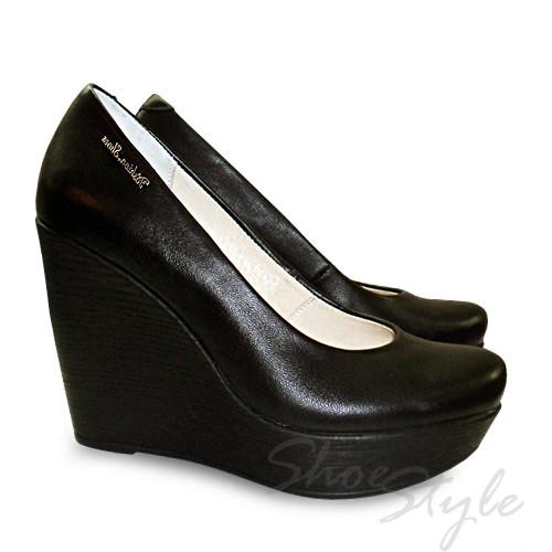 Женские туфли лодочки на танкетке из натуральной кожи оптом и в розницу -  Интернет магазин кожаной 594a73df7df