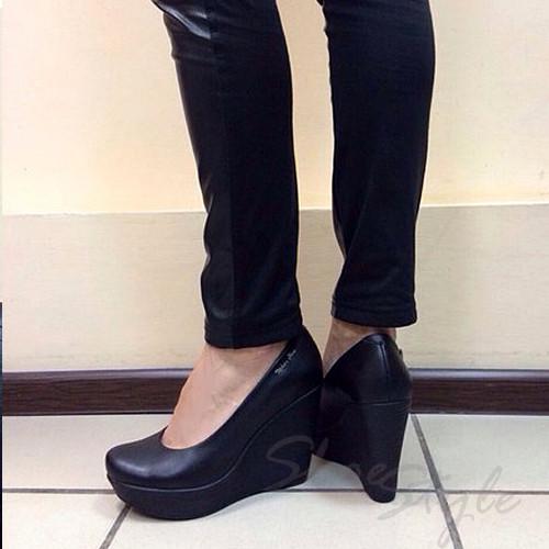... Женские туфли лодочки на танкетке из натуральной кожи оптом и в  розницу, фото 3 f9e1884336f