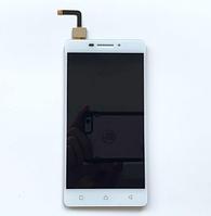 Оригинальный дисплей (модуль) + тачскрин (сенсор) для Lenovo Vibe P1m (белый цвет)