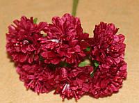 Букетик из ткани бордовый 4032, фото 1