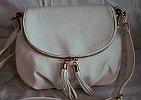 Женская сумка-клатч белого цвета