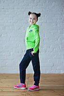 """Спортивний костюм для дівчинки 7-11 років,""""Nike"""",Салатовий, фото 1"""