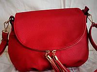 Женская сумка-клатч красного цвета