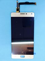 Оригинальный дисплей (модуль) + тачскрин (сенсор) для Lenovo Vibe P1 (золотой цвет)