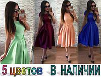 Женское платье,креп шифон, разные цвета!