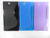 Чехол TPU S формы на Sony Xperia Z Ultra XL39h C6806 C6802 C6833i (черный. фиолетовый, синий)