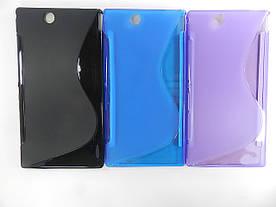 Чехол TPU S формы на Sony Xperia Z Ultra XL39h C6806 C6802 C6833i (фиолетовый, синий)