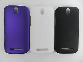 Чехол пластиковый матовый на HTC One SV C520e (белый, черный)