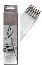 Набор простых карандашей 6шт, 2H-3В / Marco Raffine