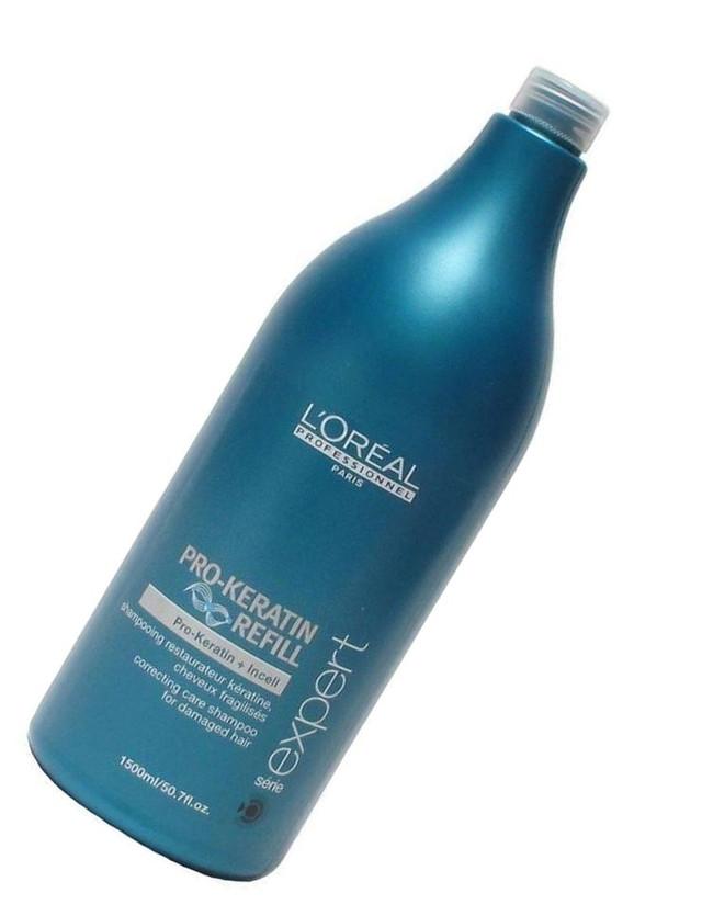 "Восстанавливающий и укрепляющий шампунь с кератином ""L`Oreal"" Pro-Keratin Refill (1500ml)"