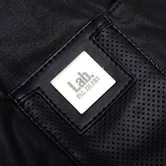 Вместительная черная кожаная сумка через плече Lab Pal Zileri Sportiv 26127/10