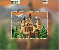 """Схема для вышивки бисером на подрамнике (холст) """"Замок в горах"""""""