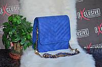 Мини-сумка Chanel синий неон., фото 1