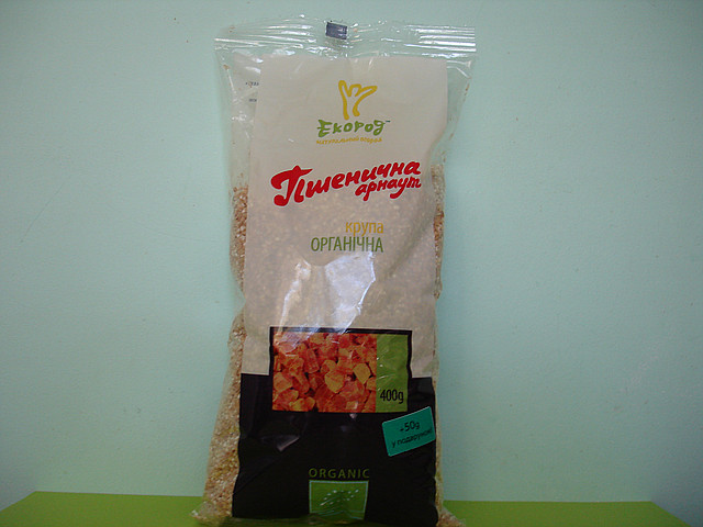 """Крупа пшеничная """"Арнаут"""" органическая 0,4 кг."""