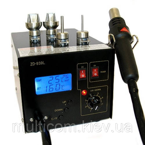 13-00-101. Темовоздушная паяльная станция ZD-939L, 320W, 160-480°C