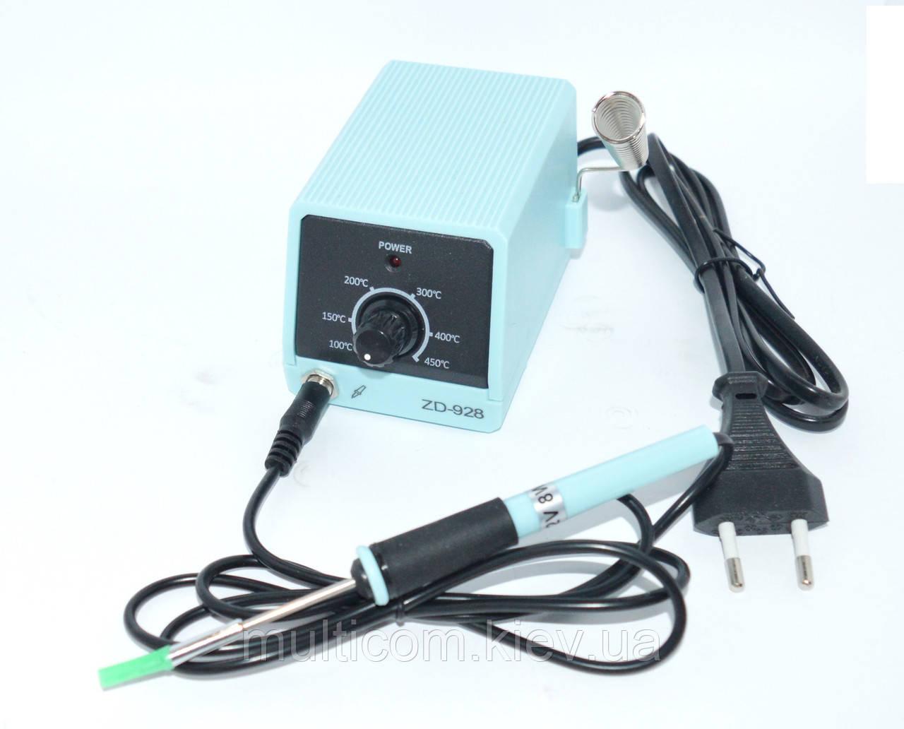 13-00-002. Микропаяльная станция ZD-928, для SMD компоненков, корпус пластик, 8W, 100-450°C