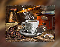 """Схема для вышивки бисером на подрамнике (холст) """"Ароматный кофе с конфеткой"""""""