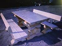 Комплект мебели для бани из дикого сруба