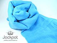 Однотонный шарф голубой