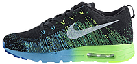 Мужские кроссовки Nike Air Max Flyknit Running (найк аир макс флайнит) черные
