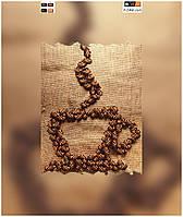 """Схема для вышивки бисером на подрамнике (холст) """"Ароматный кофе"""""""