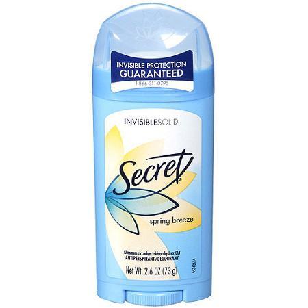 Дезодорант Secret Invisible Solid Antiperspirant & Deodorant , Spring Breeze