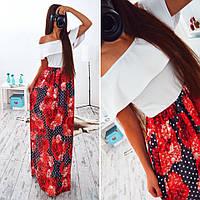 Платье макси в пол АМС-003.048