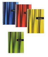 "Блокнот ""Аккорд"" А4 48 л , боковая спираль, цвета - ассорти, Economix"