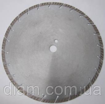 Алмазный диск для резки твердого бетона с арматурой, гранита  350x3,2/2.2x10x25,4-(24) Silver metal Turbo - Интернет-магазин Diam в Харькове