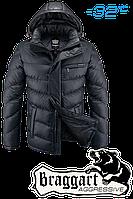 Куртка зимняя мужская на меху Braggart Aggressive - 2619A графит