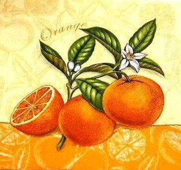 Селыетки декупажні Апельсин 1054
